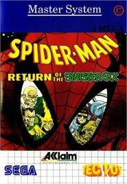 Box cover for Spider-Man: Return of the Sinister Six on the Sega Master System.