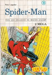 Box cover for Spider-Man vs. the Kingpin on the Sega Master System.