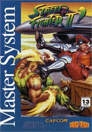 Box cover for Street Fighter II' - Champion Edition on the Sega Master System.