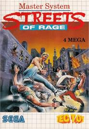 Box cover for Streets of Rage on the Sega Master System.