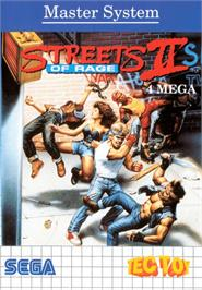Box cover for Streets of Rage 2 on the Sega Master System.