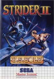 Box cover for Strider 2 on the Sega Master System.