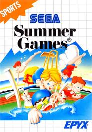 Box cover for Summer Games on the Sega Master System.