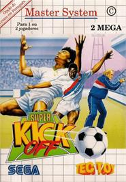 Box cover for Super Kick Off on the Sega Master System.