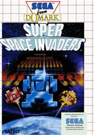 Box cover for Super Space Invaders on the Sega Master System.