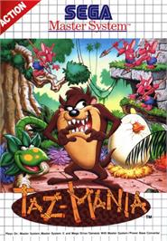 Box cover for Taz-Mania on the Sega Master System.