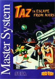 Box cover for Taz in Escape from Mars on the Sega Master System.