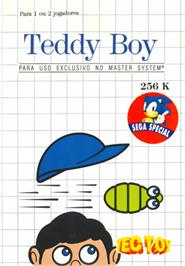 Box cover for Teddy Boy on the Sega Master System.