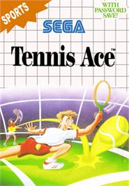 Box cover for Tennis Ace on the Sega Master System.