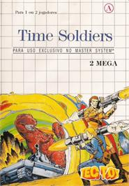 Box cover for Time Soldiers on the Sega Master System.