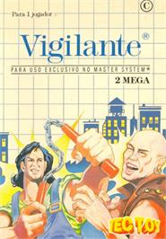 Box cover for Vigilante on the Sega Master System.