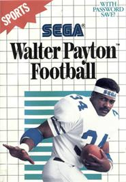 Box cover for Walter Payton Football on the Sega Master System.