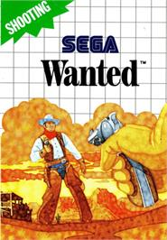 Box cover for Wanted on the Sega Master System.