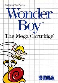 Box cover for Wonder Boy on the Sega Master System.