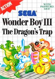 Box cover for Wonder Boy III: The Dragon's Trap on the Sega Master System.