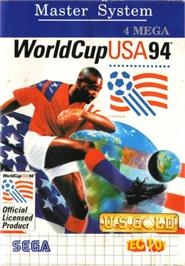 Box cover for World Cup USA '94 on the Sega Master System.