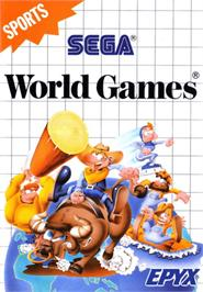 Box cover for World Games on the Sega Master System.
