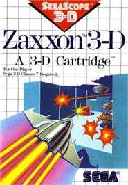 Box cover for Zaxxon 3-D on the Sega Master System.