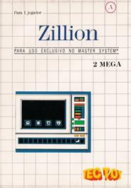 Box cover for Zillion on the Sega Master System.