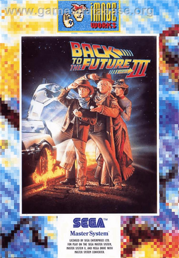 Back to the Future 3 - Sega Master System - Artwork - Box