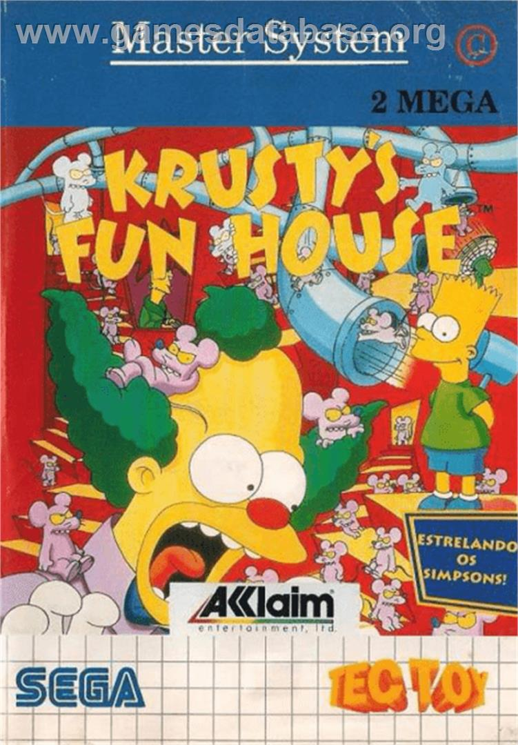 Krusty's Fun House - Sega Master System - Artwork - Box