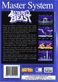 Box back cover for Altered Beast on the Sega Master System.