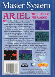 Box back cover for Ariel the Little Mermaid on the Sega Master System.