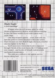 Box back cover for Blade Eagle 3D on the Sega Master System.