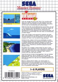Box back cover for California Games 2 on the Sega Master System.