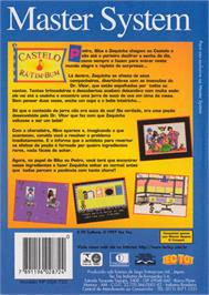 Box back cover for Castelo Rá-Tim-Bum on the Sega Master System.