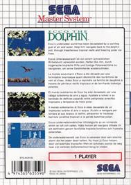 Box back cover for Ecco the Dolphin on the Sega Master System.