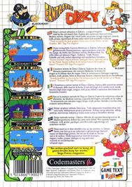 Box back cover for Fantastic Adventures of Dizzy on the Sega Master System.