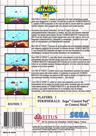 Box back cover for Fire and Forget 2: The Death Convoy on the Sega Master System.