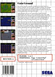 Box back cover for Gain Ground on the Sega Master System.