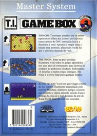 Box back cover for Game Box Série Lutas on the Sega Master System.