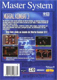Box back cover for Mortal Kombat 3 on the Sega Master System.