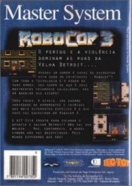 Box back cover for Robocop 3 on the Sega Master System.