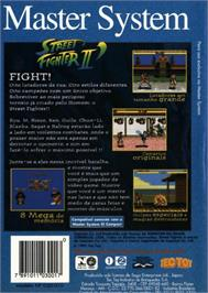 Box back cover for Street Fighter II' - Champion Edition on the Sega Master System.