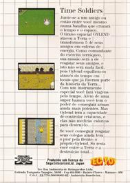 Box back cover for Time Soldiers on the Sega Master System.