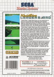 Box back cover for World Class Leaderboard on the Sega Master System.