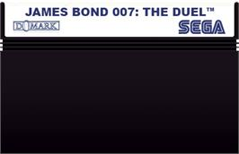 Cartridge artwork for 007: The Duel on the Sega Master System.