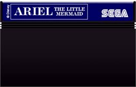 Cartridge artwork for Ariel the Little Mermaid on the Sega Master System.