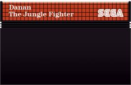 Cartridge artwork for Danan the Jungle Fighter on the Sega Master System.