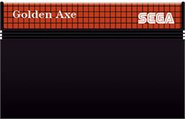 Cartridge artwork for Golden Axe on the Sega Master System.