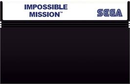 Cartridge artwork for Impossible Mission on the Sega Master System.