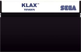 Cartridge artwork for Klax on the Sega Master System.