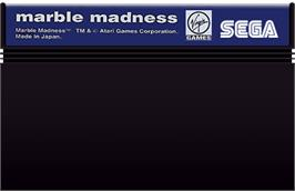Cartridge artwork for Marble Madness on the Sega Master System.