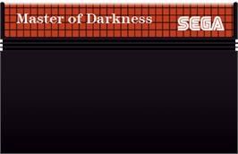 Cartridge artwork for Master of Darkness on the Sega Master System.