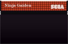 Cartridge artwork for Ninja Gaiden on the Sega Master System.