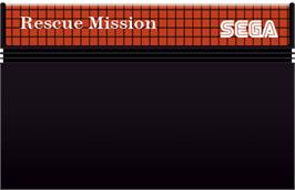 Cartridge artwork for Rescue Mission on the Sega Master System.